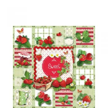Sweet Strawberries - Servietten 25x25 cm
