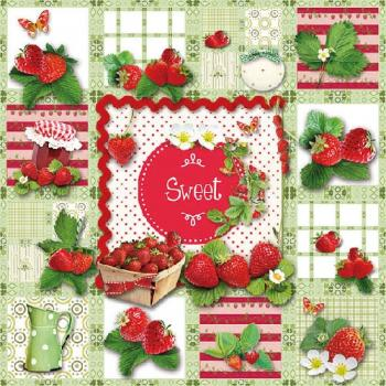 Sweet Strawberries - Servietten 33x33 cm