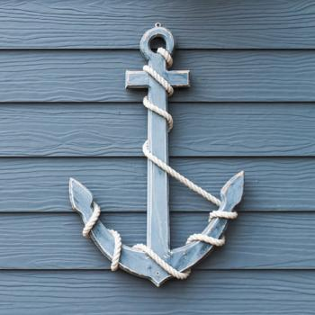 Wooden anchor - Servietten 33x33 cm